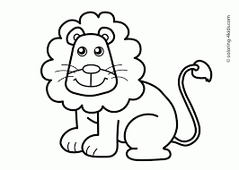 important coloring drawings for kids perfect lion drawing children book free s