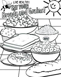 Healthy Foods Coloring Page Eating Healthy Foods Coloring Pages For