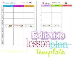Preschool Lesson Plan Project Template For Teachers Free