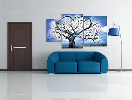 Small Picture Aliexpresscom Buy Hand Painted Canvas Oil Paintings Blue Ocean