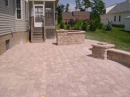 modern style cement patio with concrete patio