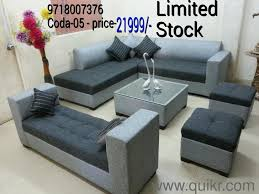t new designer l shape 9 seated sofa set with center table rs 21999 call 9718007376 brand home office furniture delhi quikrgoods