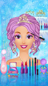 ice queen wedding makeup and dress up games screenshot on ios