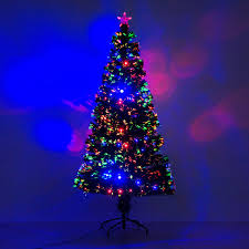 Led Light Up Christmas Tree 5 Artificial Holiday Fiber Optic Led Light Up Christmas Tree W 8 Light Settings And Stand