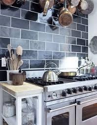 kitchen backsplash blue subway tile. Attractive Butcher Block Backsplash 10 Florence Black Tile Kitchen Ideas Subway Tiles Blue L
