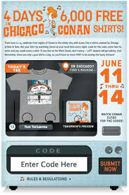 Secret Vending Machine Code Cool Conan O'Brien Creates Fanfare With Vending Machine TShirt Giveaway