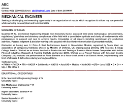 Mechanical Engineer Professional Resume Samples Mechanical