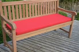 4 seater garden bench cushion 1 7m 5 6 superior quality red