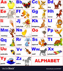 alphabet picture cards alphabet cards background royalty free vector image