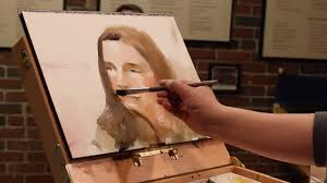 watercolor portrait live demonstration at children s museum of nh