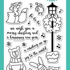 Caroling Critters Clear Stamp Set and dies by #averyelle. Visit our on line  shop to see full range. Re-pin for later. #the…   Clear stamps, Digi stamp,  Paper tree