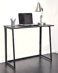 com urban 47923 folding writing desk black kitchen dining