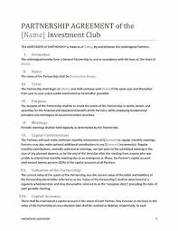 partnership agreement template business agreement sample letter