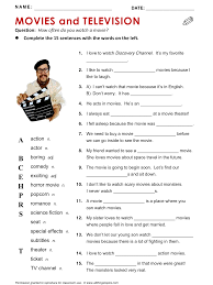 movies and television movie tv vocabulary esl english phrases  favorite movie essay movies and television all things topics
