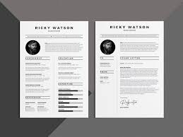 Free Clean Minimalist Resume Template With Cover Letter