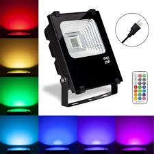 Multi Colored Flood Lights Outdoor Led Floodlight Outdoor 20w Color Changing Flood Light Landscape Lamp Multi Colored Wall Washer Lighting Ip65 Waterproof With 115ft Remote For