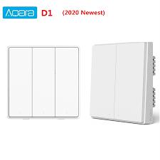 <b>Aqara Smart</b> Wall Switch D1 Zigbee <b>Wireless</b> Light Switch 3 button ...