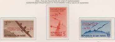 1947 – San Marino Convegno Filatelico Riccione 298/300 MNH – - Partenophil  | Filatelia e Numismatica Napoli di Gennaro Todisco