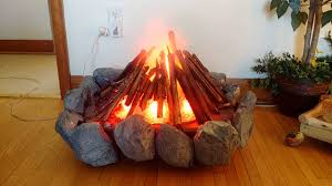Indoor Fake Fireplace Custom Artificial Indoor Campfire With Remote Control Youtube