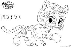 Shimmer And Shine Coloring Pages Nahal Walking Free Printable