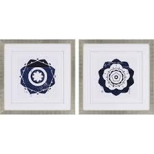indigo ii 2 piece framed wall art set on set of 2 framed wall art with indigo blue wall art wayfair