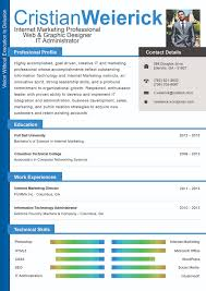 Visual Resumes How To Get Employers To Notice You With A Visual Resume Cristian 9