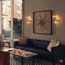 wall lighting living room. gambit triple led wall sconce lighting living room
