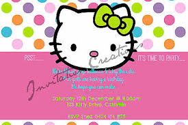 Printable Hello Kitty Invitations Personalized Personalized Hello Kitty Birthday Invitations Magdalene