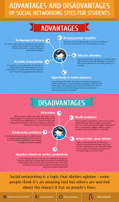 advantages and disadvantages of social networking sites for advantages and disadvantages of social networking sites for students infographic