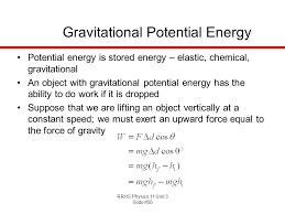 rrhs physics 11 unit 3 gravitational potential integral gravitational potential gravitational potential energy