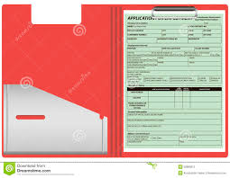 folder the application form for employment stock vector folder the application form for employment