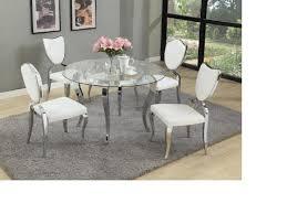 modern round gl dining table set