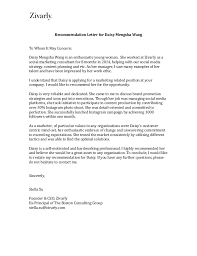 Recommendation Letter From Ceo