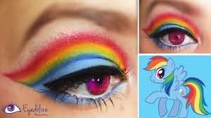 rainbow dash my little pony inspired makeup eyeshadow tutorial by eolizemakeup you