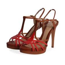 fendi leather platform strappy sandals brown