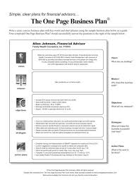 example of a business plan financial advisor business plan pdf parlo buenacocina co