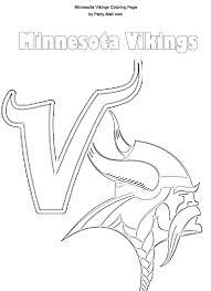 Small Picture Minnesota Vikings logo Stencil Minnesota Vikings Coloring Page