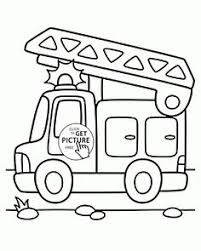 Small Picture Cartoon Small Truck coloring page for preschoolers transportation