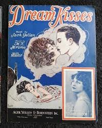 "192 ""DREAM KISSES"" SHEET MUSIC AGER YELLEN BORNSTEIN MYRTLE GORDON BARBELL  COVER 