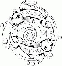 Small Picture Free Printable Koi Fish Tattoo Design Coloring Page Coloring Home