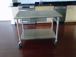 Metal Kitchen Island Tables Astonishing Stainless Steel Movable Kitchen Island Photo Ideas