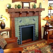 craftsman style fireplace mantel for decor