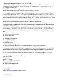 Resume Maker Free Software Free Resume Example And Writing Download