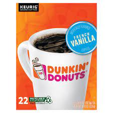 Keurig ® starter kit 50% off coffee maker: Dunkin Donuts French Vanilla K Cup Coffee Cross Country Cafe