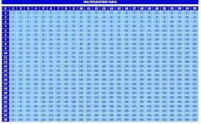 Multiplication Chart 1 100