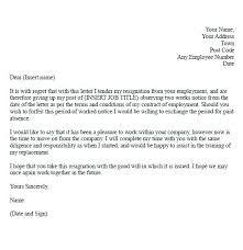 2 Weeks Notice Template Inspiration 48example Of A Two Week Notice Letter Statement Letter