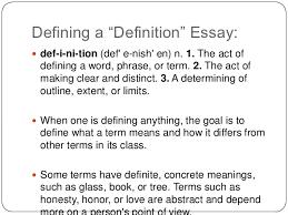 definition% essay  defining