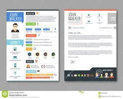 Resume Cv Template Stock Vector Illustration Of Experience 66334561