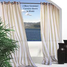 Escape Stripe Outdoor Grommet Curtain Panels. Escape Stripe Grommet Panel.  Click to expand