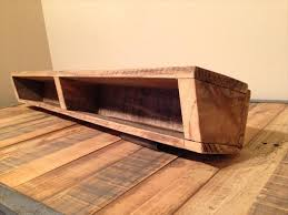recycled pallet dual purpose shelf